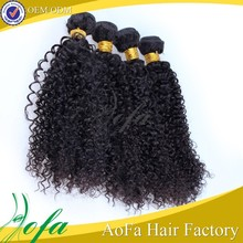 Wholesale unprocessed kinky curly chinese hair extension for black women