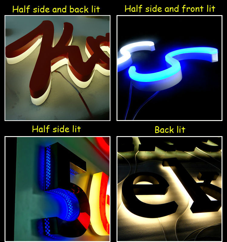 3d outdoor lighted LED epoxy resin signs