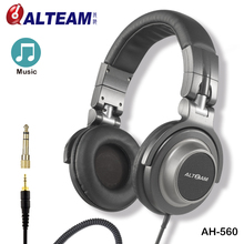 High quality wide frequency range pro studio dj monitoring headphone