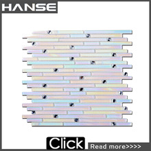 TT01 supplier in stock outdoor rainbow color glass mosaic tile
