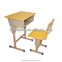 2015 Hot Sale!ergonomic study table,school single desk and chair,height adjustable children desk and chair