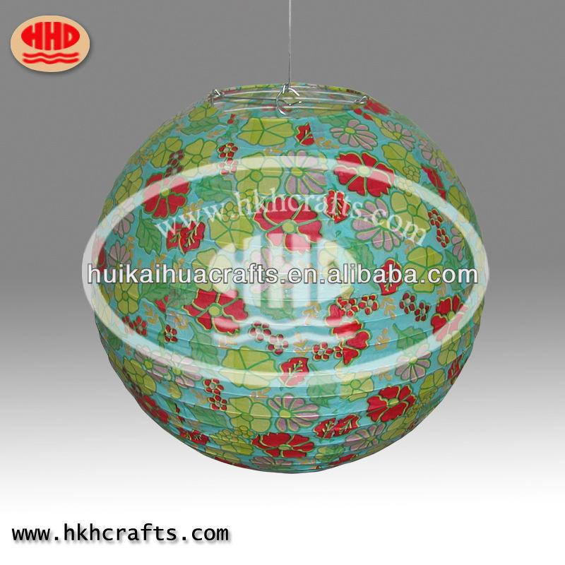 print flower wedding decoration handmade paper Lantern crafts