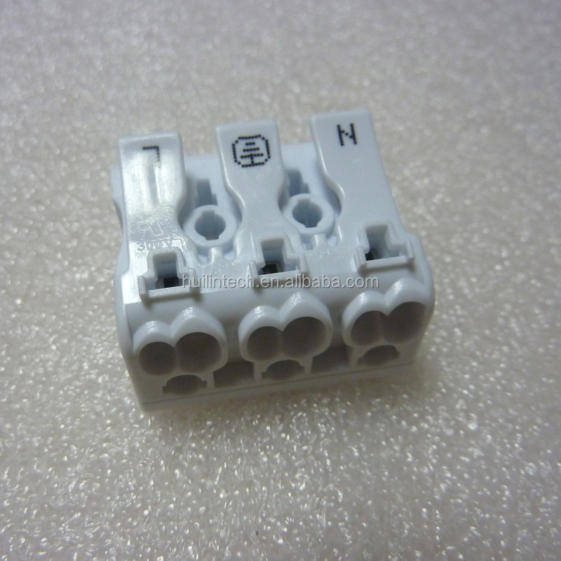 923-3P push button connectors screwless 923 series terminals with earth tag