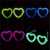 Fashionable Party Favor Heart Shape Glow Glasses( EN71, ASTMF963)