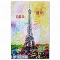 FZDEYI France Eiffel Tower printing canvas wall art for office