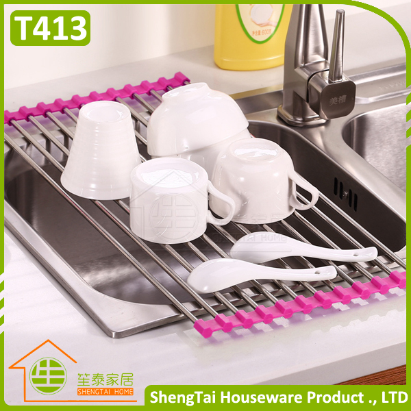 on line sell multifunction folding dish rack