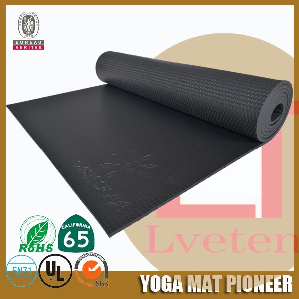 Multi Purpose custom embossing logo durable eco pvc fitness workout yoga mats