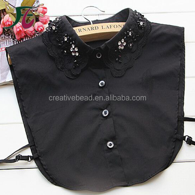 Factory Price Luxury New Design Black Beaded Collar