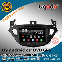 Ugode 8 inch Opel Corsa car dvd gps with 1024*600 resolution