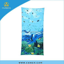 Microfiber printed beach towel for bath
