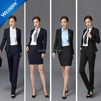 New style custom work uniform skirt suit formal women pant suit ladies office uniform design