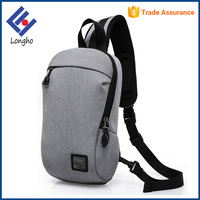 Wholesale convenient back zipper pocket outdoor backpack sling bags anti theft zipper design casual sling cross body bag
