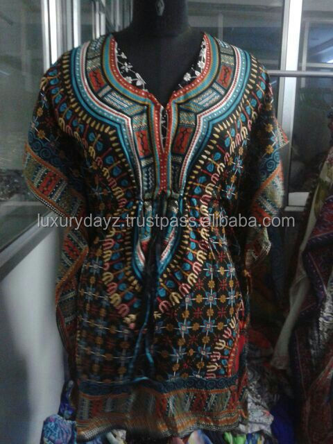 Colored polyester beach kaftan