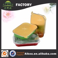 Disposable airtight aluminum food storage container with lid
