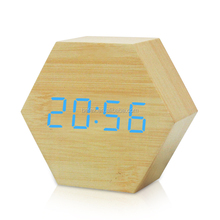 Promotional Custom Office Desk Wooden Alarm Clock