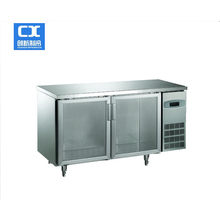 new design high quality solid door counter stainless steel refrigerator