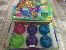 2015 hot sale kids playing light up Novelty TPU Air Bouncy Ball for easter