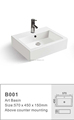 2016 Rectangular counter top art wash basin B001
