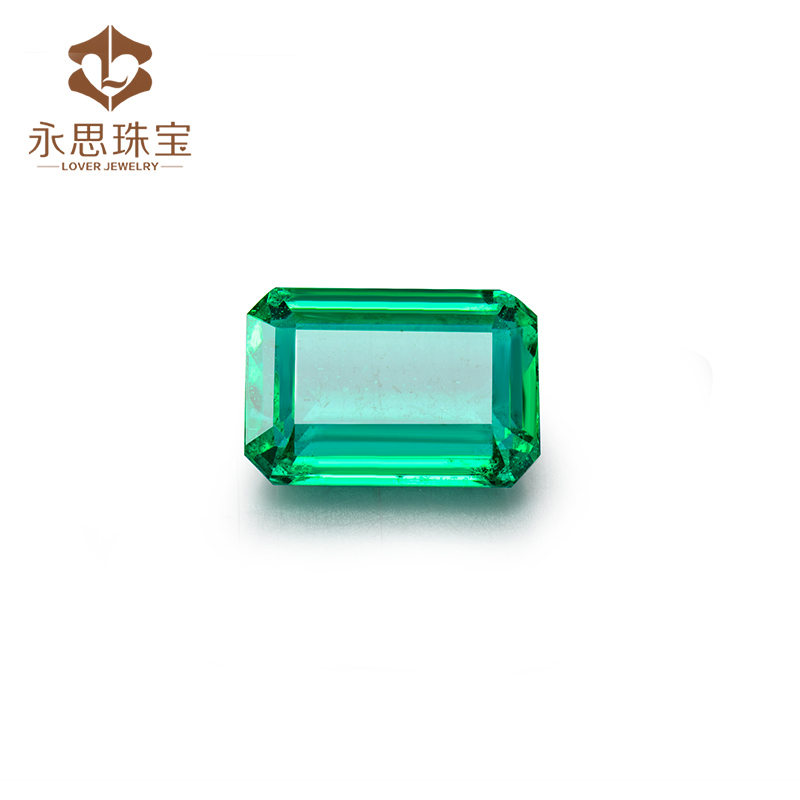2.15ct Fine Green Colombian Emerald stone Emerald Cut 9x6mm , Loose Natural Stone Best Price For Fine Jewelry