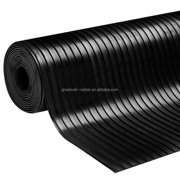 Wholesale Best Selling Broad  Anti-slip ribbed flooring mat rubber sheet