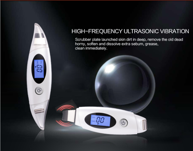 rechargeable EMS and ultrasonic skin scrubber facial machine