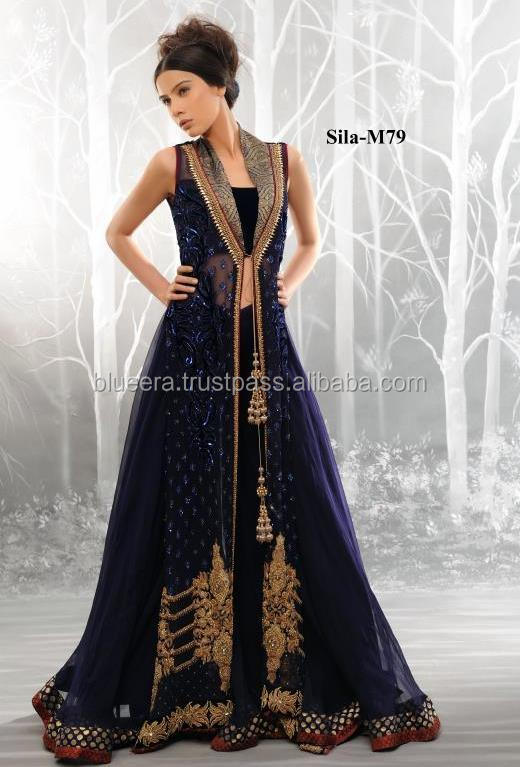gown style Embroidered long shirt party wear BE-M79