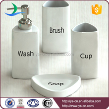 Porcelain bathroom accessory,fashion hotel ceramic bathroom sets