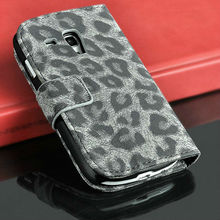 manufacture price luxury Leopard leather cute case for samsung galaxy s3 mini