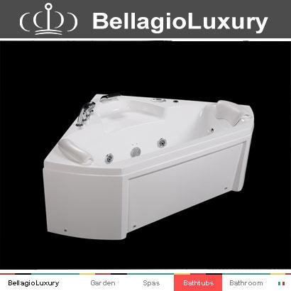 Petite baignoire profonde spa bain remous portable baignoire personnelle triangle baignoire for Petite baignoire profonde