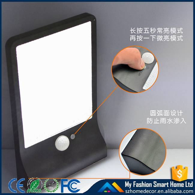 Model XH37 36LED wall mounted motion sensor outdoor led solar light solar wall light led solar lamp