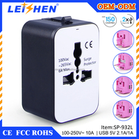 promotional gifts double usb mutil travel adapter with universal plug