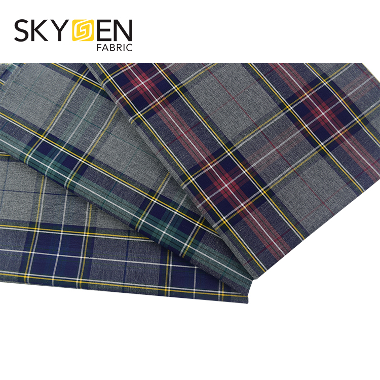Good quality yarn dye stock lot shirting checked men shirt textile 100 % cotton fabric for a shirt