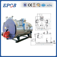 Low pressure hot water oil gas combi boiler with Italy Riello burner