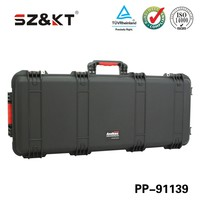 IP67 plastic hard gun case with foam