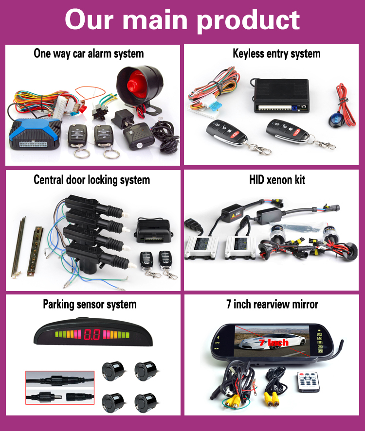 Super quality program manual car alarm anti theft security system