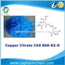Food/chemical/industrial grade Copper Citrate CAS 866-82-0
