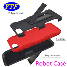 3 in 1 Robot Cell phone Combo cover Belt Clip protective holster kickstand case for Google Pixel 5.0' Nexus sailfish