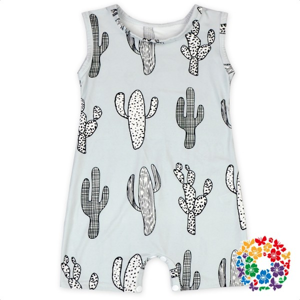 Plain Baby Clothes Soft Cotton Pentagram Pattern Design Baby National Day Romper