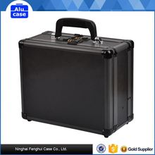 aluminum alloy musket gun case with safe lock and high density foam lining
