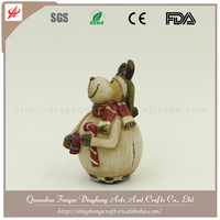 Christmas Gifts And Decoration Standing Toys Snowman Mini Plastic Christmas Figurine