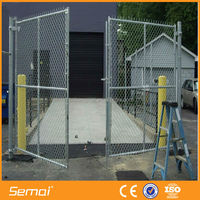 Hot sale cheap low price pvc coated chain link fence gates