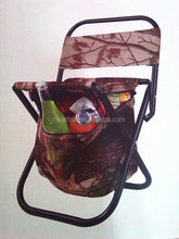 foldable insulated cooler chair/ fishing chair with cooler bag