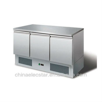 refrigerated Saladettes for restaurant with stainless steel top counter
