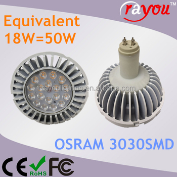 high quality GX8.5 LED ar111 18w replace master CDM-R111 35W 50W