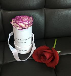 Hot sell custom luxury brand wedding gift packaging fresh rose boxes single flower box