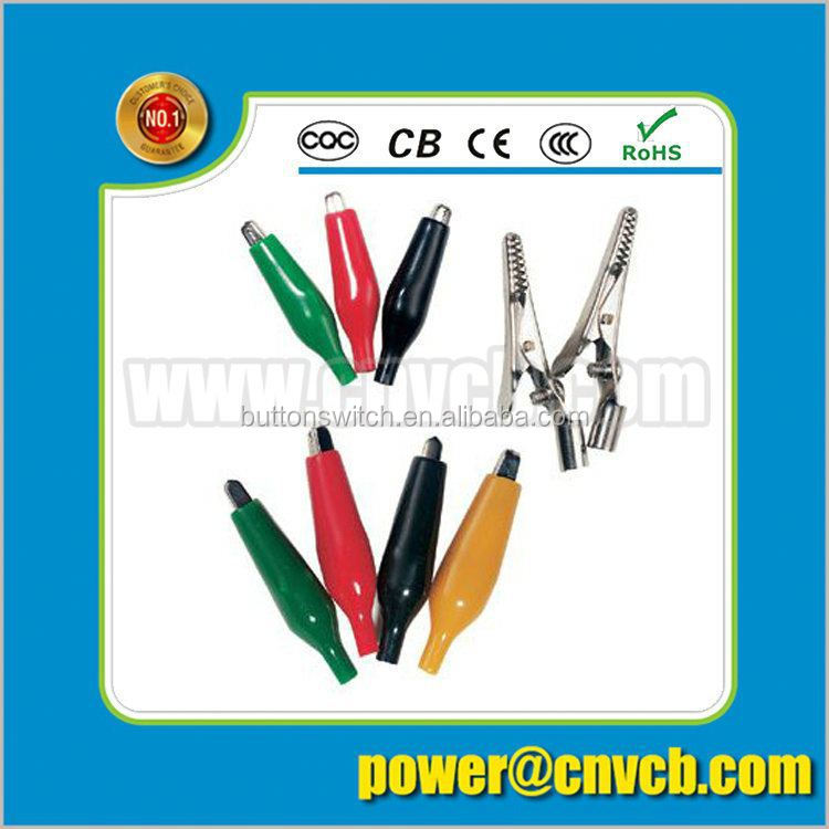 Wire rope and wire rod metal crocodile clip