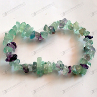 Rare gemstone bracelet rainbow fluorite bracelet