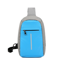 New design promotional big capacity school single shoulder backpack bag with USB and headset jack