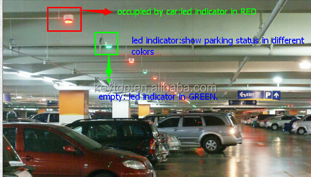 KEYTOP ultrasonic forward mounting sensor based smart parking guidance system for searching empty parking spaces
