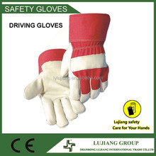 "lujiang safety 16""Golden yellow cow split leather fancy welding hand glove"